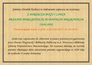 Gminny Osrodek Kultury w Sadownem zaprasza na wystawe
